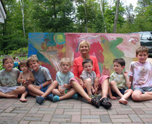 Melanie Donnelly and her grandchildren love Washington Island